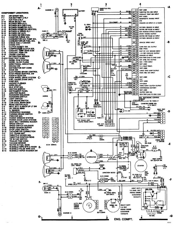 83 chevy alternator wiring diagram