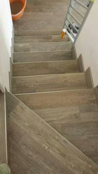 Wood look tiles - stairs | floor ideas | Pinterest ...