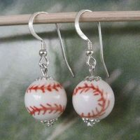 Sterling Silver Baseball Earrings FREE USA Shipping by ...