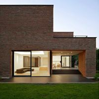house Freshome14 Impressive Brick Monolithic Home with ...
