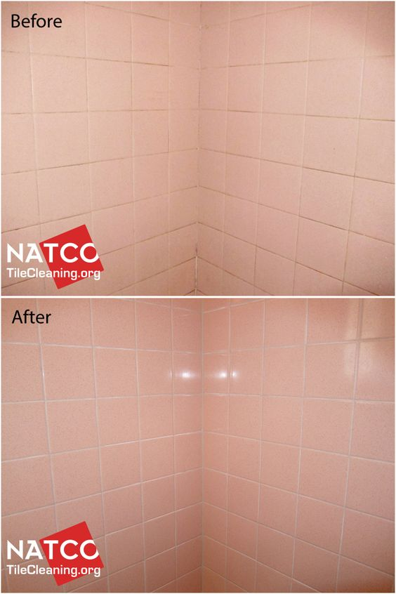Regrouting Old Style Pink Shower Tiles. | Re-Grouting & Re