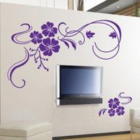 Amazon.com: Butterfly Vine Flower Wall Art Stickers ...