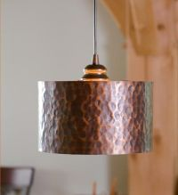 Screw-In Hammered Copper Drum Pendant Shade $79.95 from ...