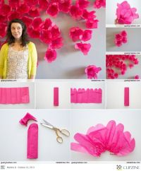 DIY wall art handmade paper flowers tutorial ...