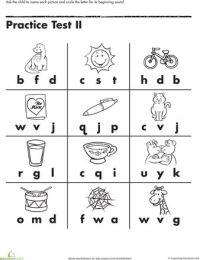 Beginning Letter Sounds   Alphabet worksheets ...
