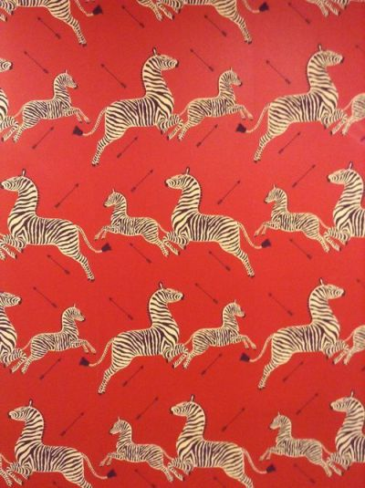 Scalamandre wallpaper with arrows from the Royal Tenenbaums. I am feeling very compelled to use ...