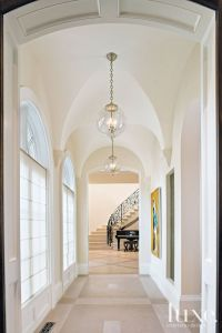 Traditional White Foyer with Groin-Vaulted Ceiling | Luxe ...