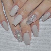 Best ideas about Acrylic Nails Coffin Grey, Nails ...