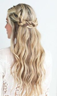 Half up. Half down | Hair | Pinterest | Crown braids ...
