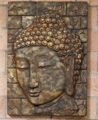 Large Handmade Buddha Wall Panel - Wall Hangings | On the ...