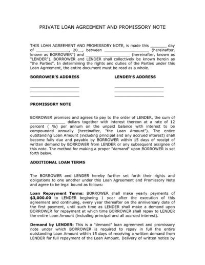 corporate loan contract sample - private loan agreement template free | Real State | Pinterest ...