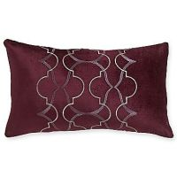 Royal Velvet Dark Raisin Oblong Decorative Pillow
