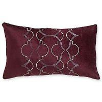 Royal Velvet Dark Raisin Oblong Decorative Pillow ...