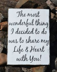 Rustic Wedding Sign 18x12 Love Quotes Anniversary Gift ...