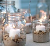 mason jar decorating ideas | glass jar candle holders with ...