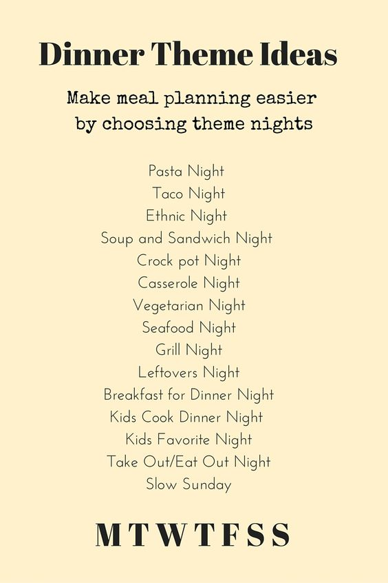 Dinner Theme Ideas: Make Dinner Planning Easier And More Fun By