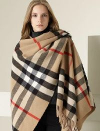 Burberry Colette Cashmere Wool Womens Shawl Scarf Wrap ...