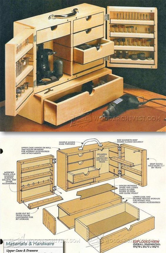Dremel Storage Case Plans - Workshop Solutions Projects, Tips And