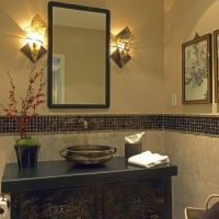 Bathroom tile, Love the idea of tiling half the wall with ...