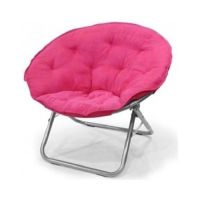 Folding Saucer Chair Dorm Game Room Teen Kids Gamer Pink ...