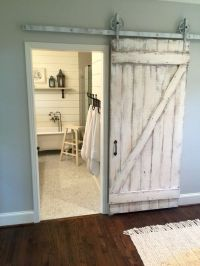 Shabby Chic Z Sliding Barn Door, White Barn Door ...