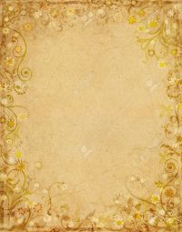 10225172-Old-grungy-paper-with-a-floral-border-design ...