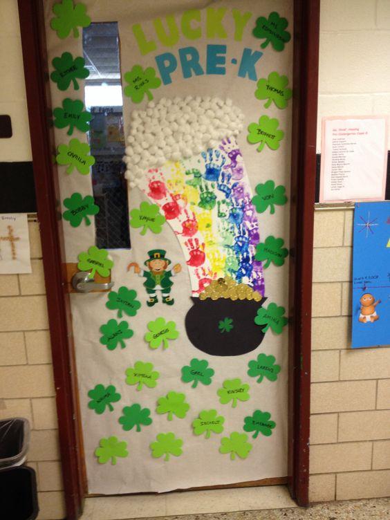 St Patrick's Day Classroom Door Ideas