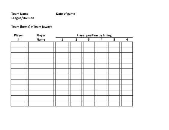 baseball schedule template - Amitdhull - free roster templates