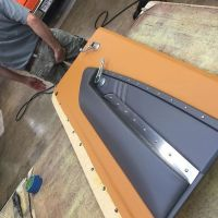 custom chevelle #BecauseSS door panels leather brown grey ...