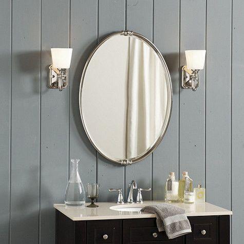 25 Modern Bathroom Mirror Designs Moderno, Cerchi e Grigio - designer bathroom mirrors