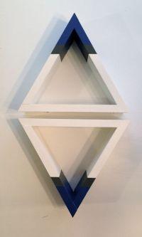 Handmade Striped Triangle shelf / wall decor by ...