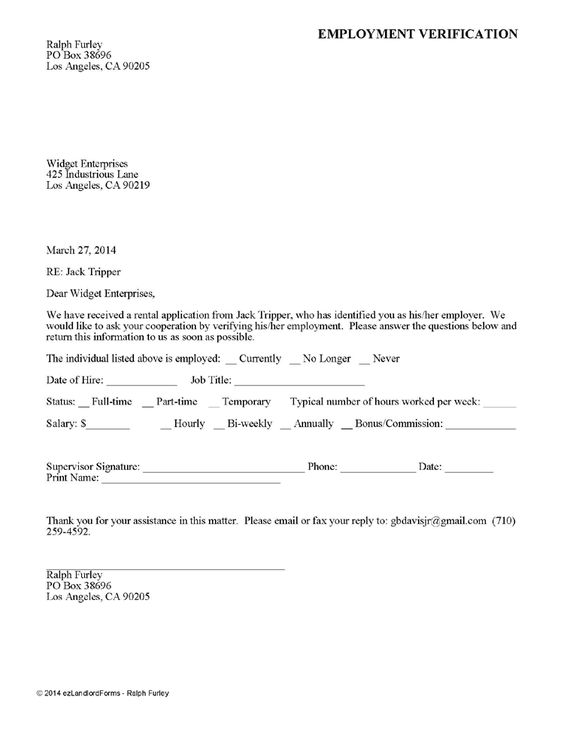 Doc#12751650 Rent Verification Letter Sample u2013 Best Photos of - landlord verification form