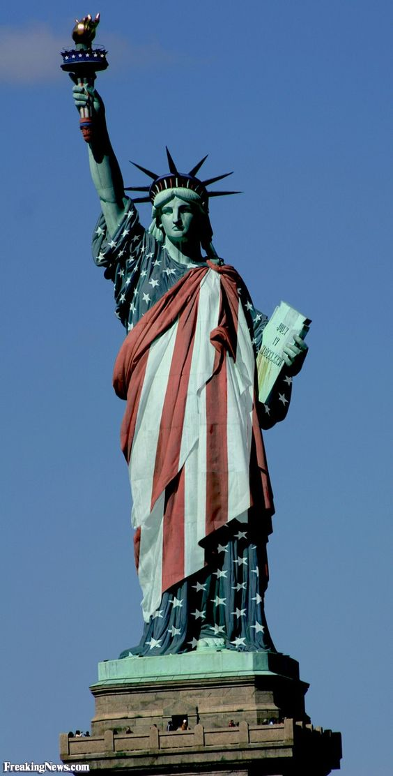 Before I Fall Quotes Iphone Wallpaper Statue Of Liberty Dressed In The American Flag 4