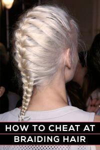 How to braid hair, How to braid and Braid hair on Pinterest