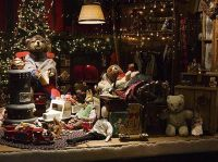 Shop windows, Still Life and Christmas decorations on ...
