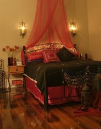 I would love to have a Morrocan bedroom! Or even Indian I ...