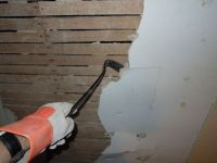 Removing plaster from the wall/ceiling--not necessary to ...