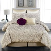 Guest bedroom 8-Piece Emma Flower Queen Comforter Set in ...