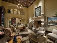 Formal Living room, mediterranean style mansion of ...