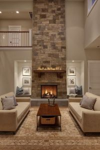 Love the niches instead of bookcases on either side of ...
