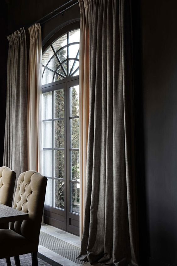 Hoge Plafonds Gordijnen - Maison Belle Curtains - Gordijnen | Pinterest