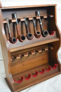 Vintage Large Luxury 12 Tobacco Pipe Holder Stand Modified ...