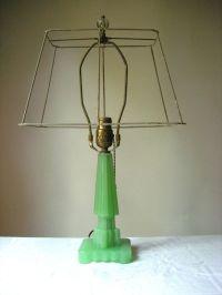 Vintage Art Deco Jadeite Lamp | Lamps, Vintage and Shades