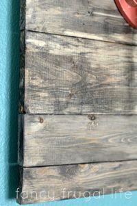 faux barn wood wall art | diy | Pinterest | Stains, DIY ...