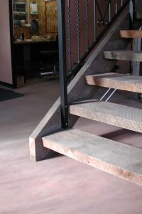 stairs open riser closed treads landings | mr wrought iron ...