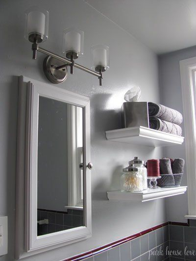 Bathroom Light Fixture Update Toilets, Accent Colors And Bathroom Updates On Pinterest