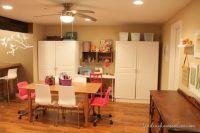 Decorating ideas: Basement Family room   Basement craft ...