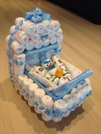 Baby shower present, nappy stroller idea | Baby shower ...