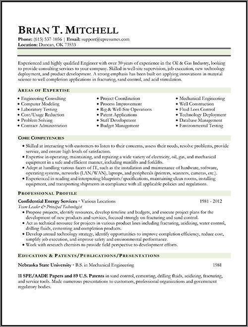 sample petroleum landman resume