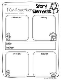 Story elements, Comprehension and Picture books on Pinterest